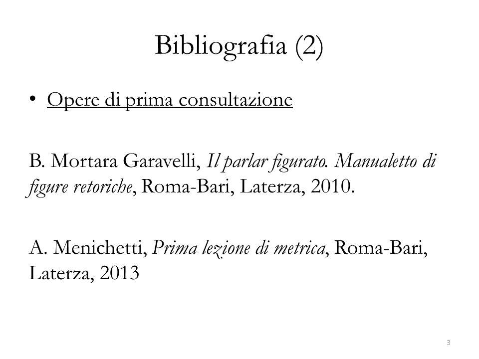 Bibliografia (2) Opere di prima consultazione