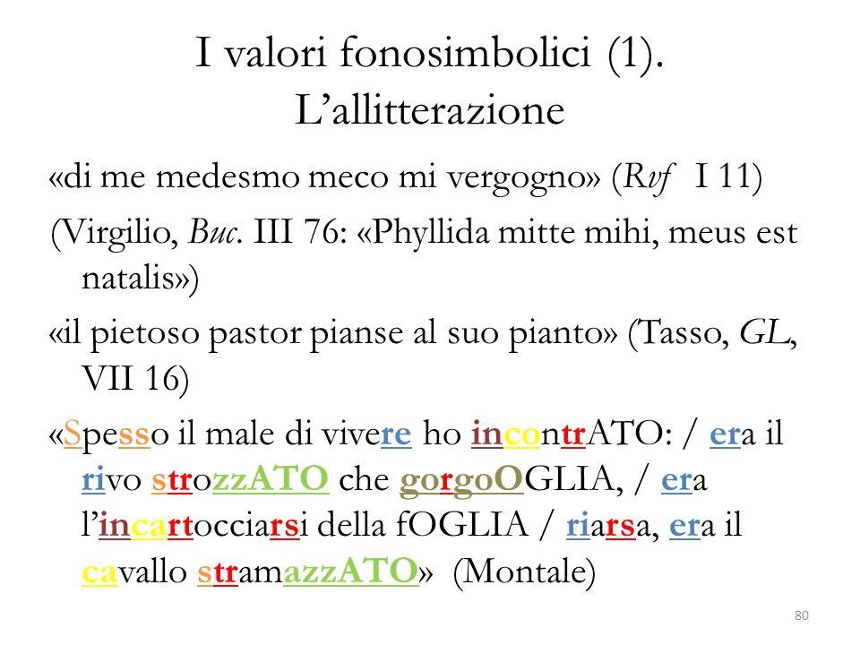 I valori fonosimbolici (1). L'allitterazione