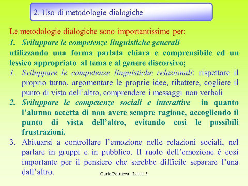 2. Uso di metodologie dialogiche