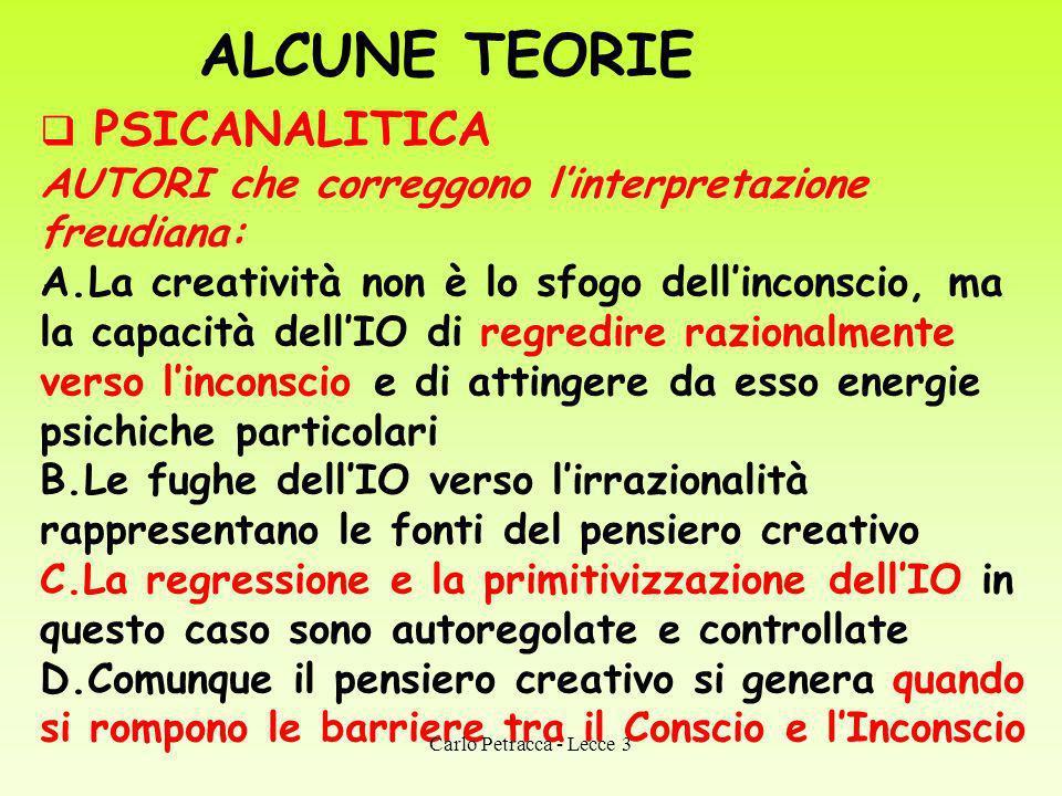ALCUNE TEORIE PSICANALITICA