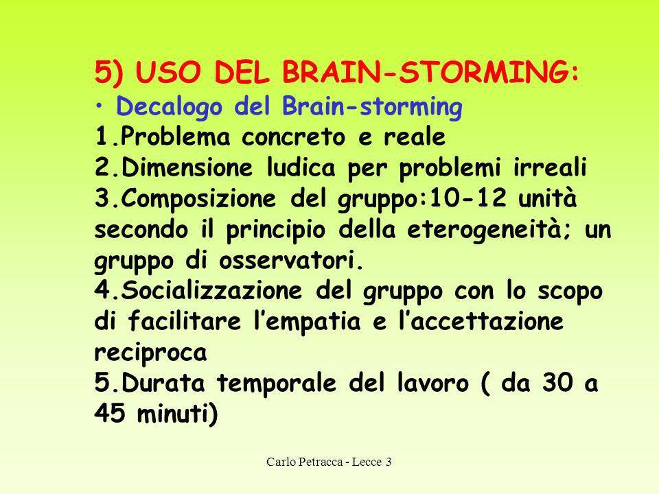 5) USO DEL BRAIN-STORMING:
