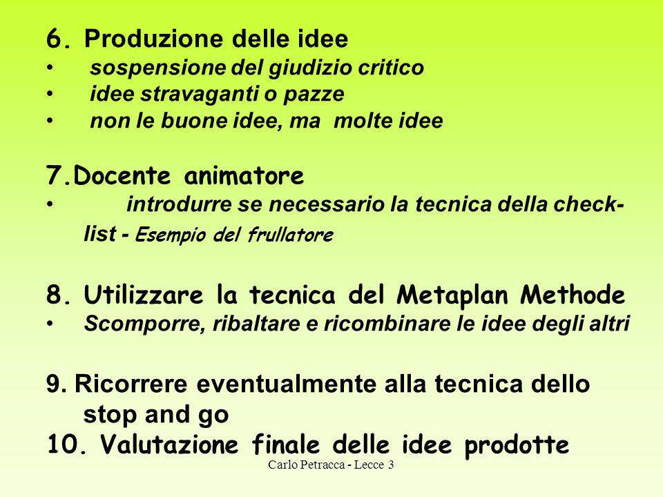 8. Utilizzare la tecnica del Metaplan Methode