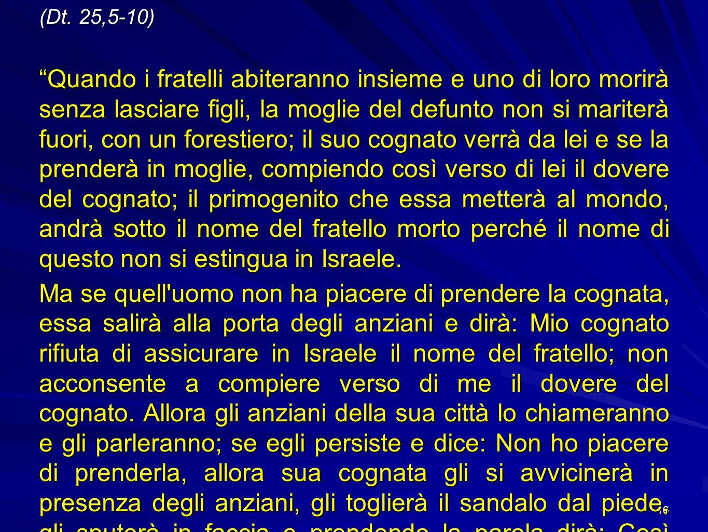 (Dt. 25,5-10)