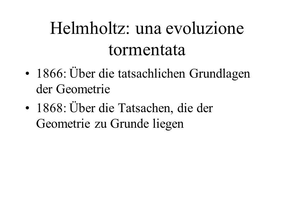 Helmholtz: una evoluzione tormentata