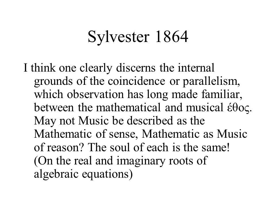 Sylvester 1864