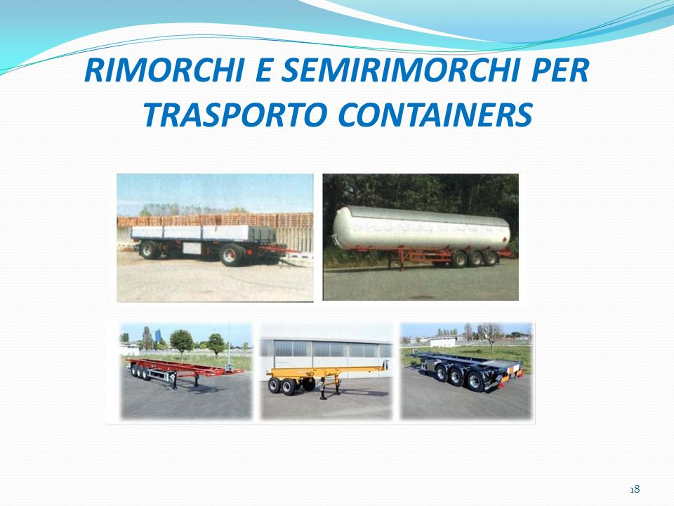 RIMORCHI E SEMIRIMORCHI PER TRASPORTO CONTAINERS