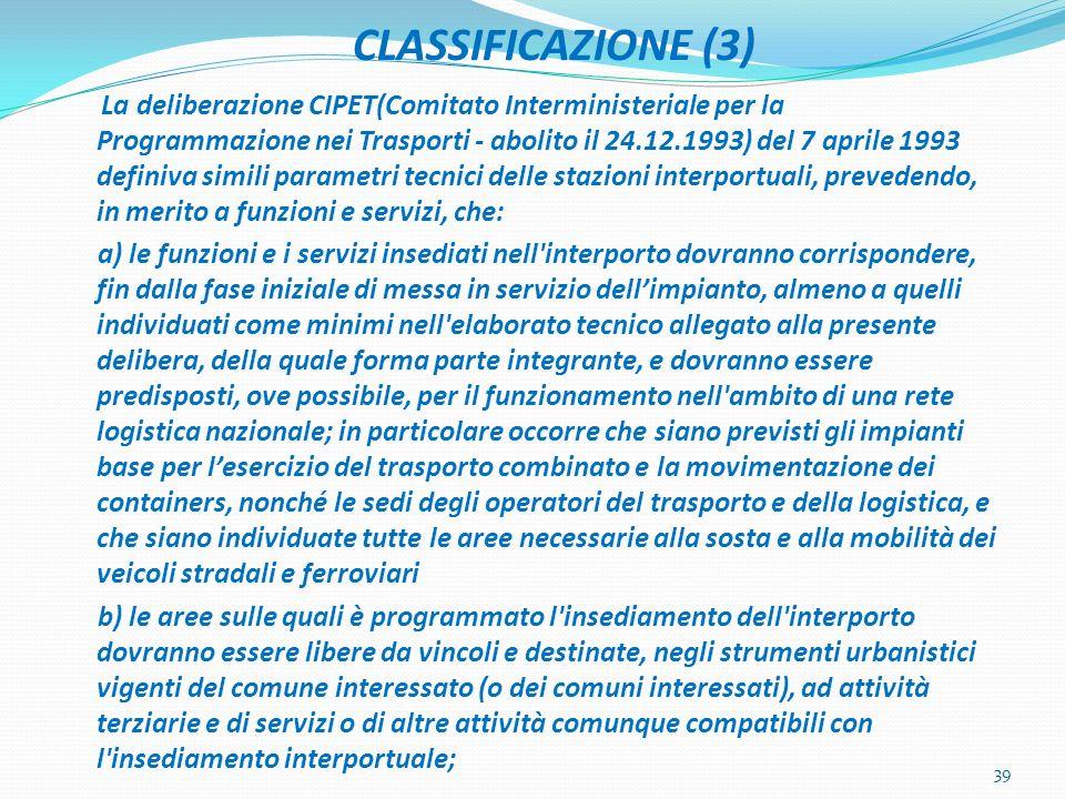 CLASSIFICAZIONE (3)