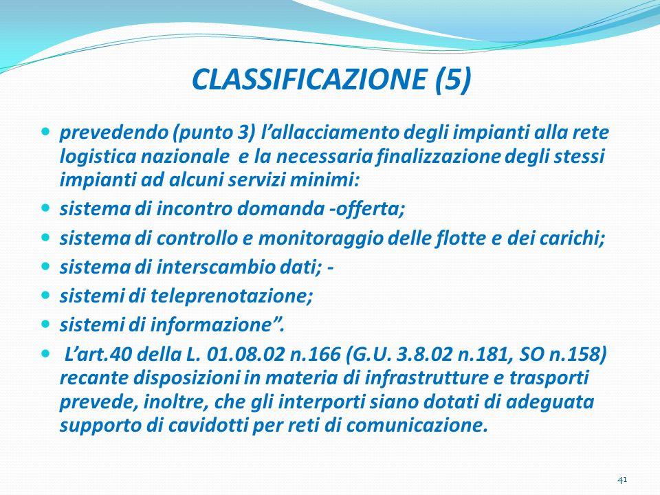 CLASSIFICAZIONE (5)