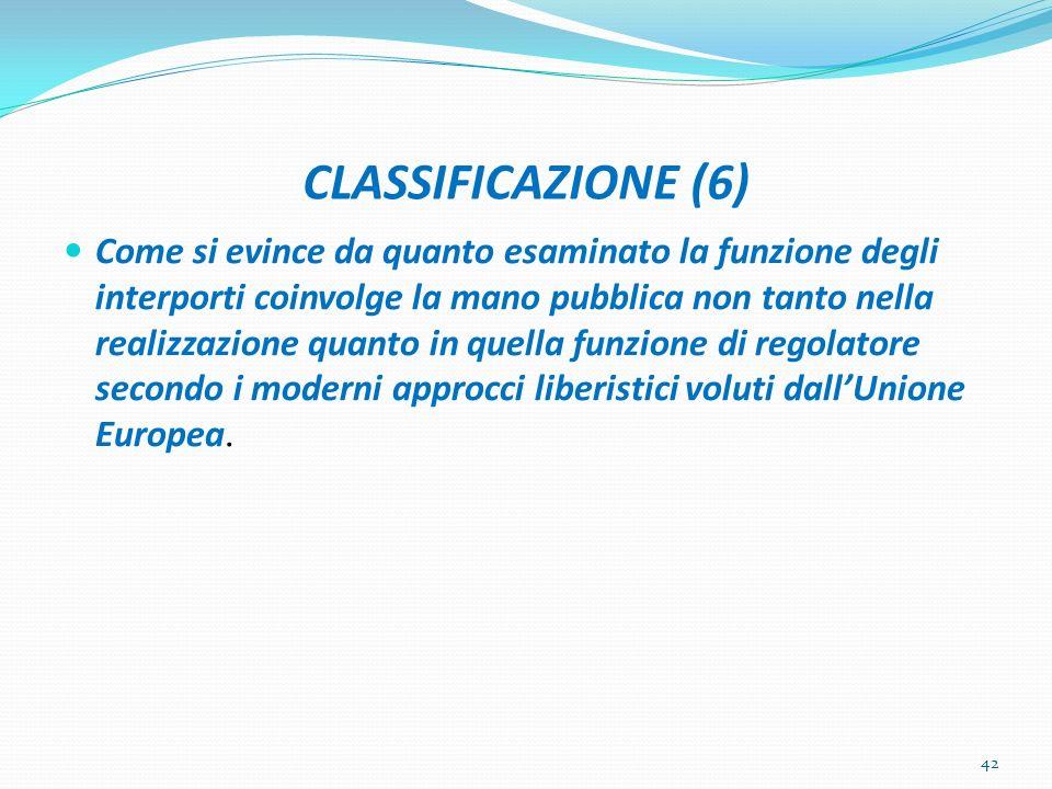 CLASSIFICAZIONE (6)
