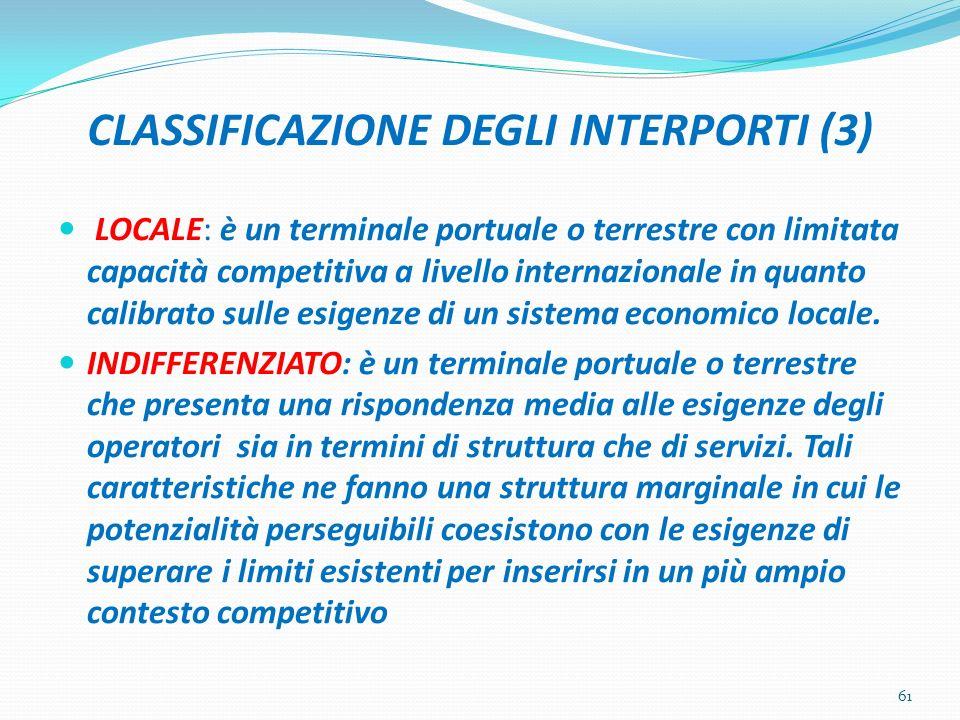 CLASSIFICAZIONE DEGLI INTERPORTI (3)