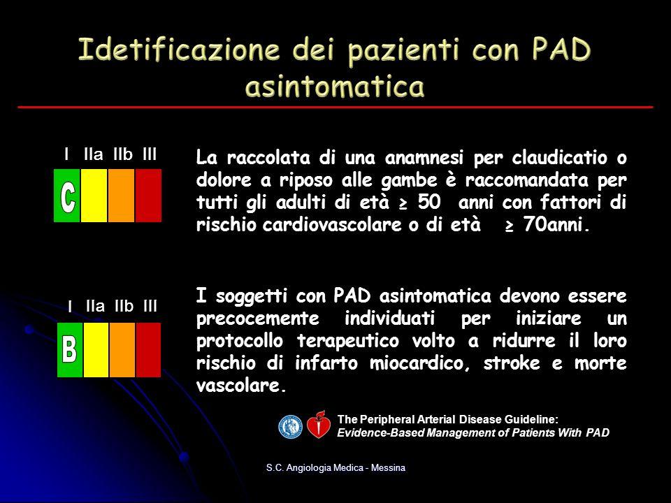 Idetificazione dei pazienti con PAD asintomatica
