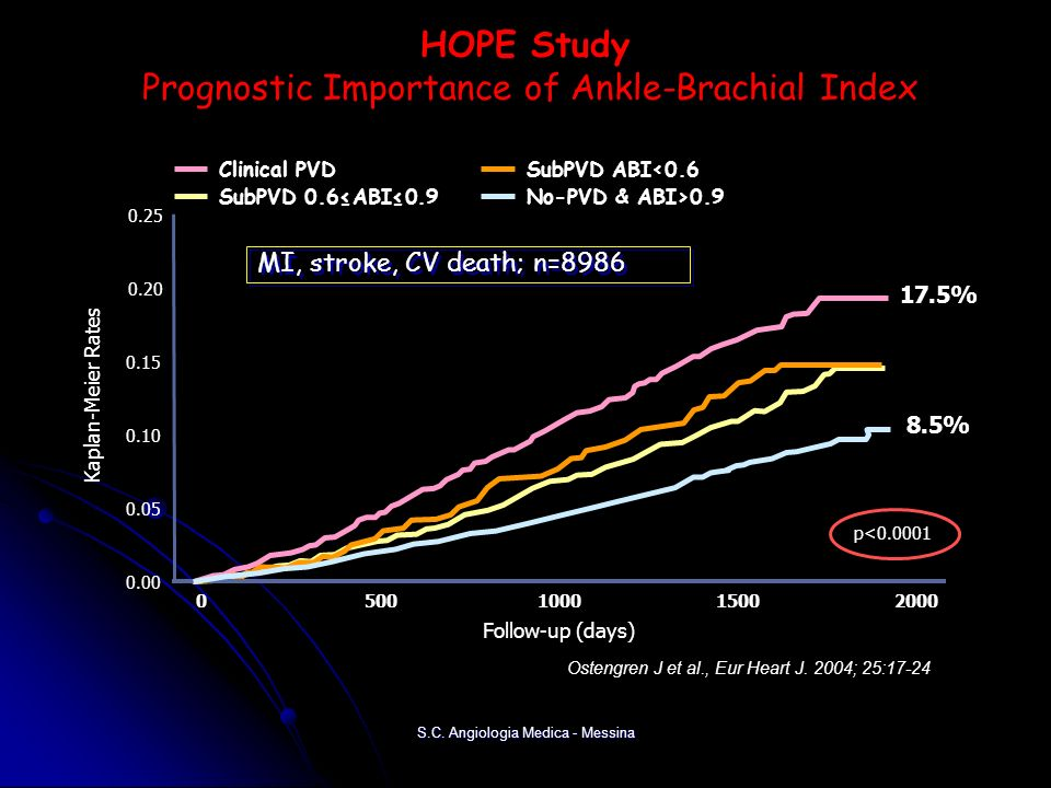 HOPE Study Prognostic Importance of Ankle-Brachial Index