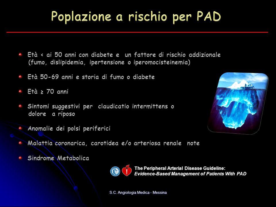 Poplazione a rischio per PAD