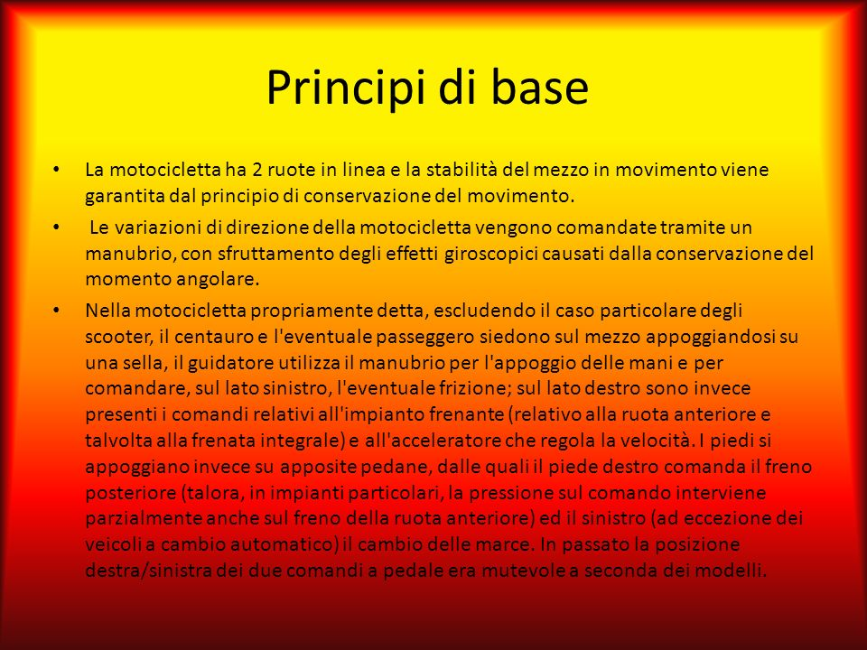 Principi di base