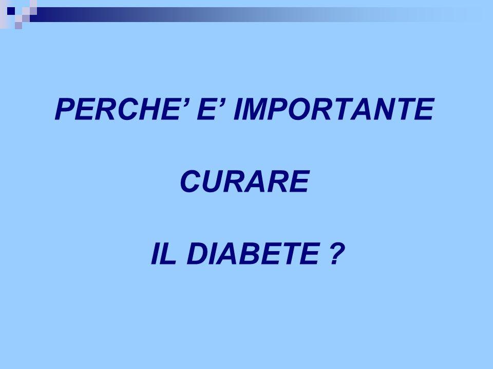 PERCHE' E' IMPORTANTE CURARE IL DIABETE