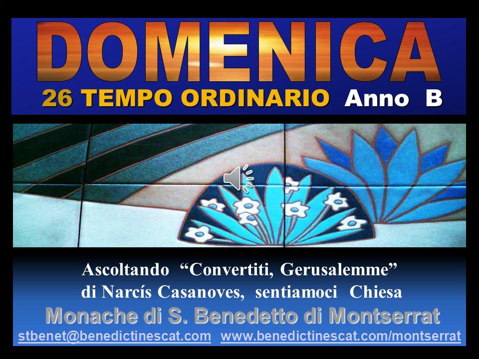 26 TEMPO ORDINARIO Anno B DOMENICA