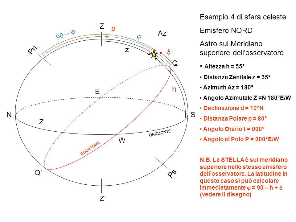 Esempio 4 di sfera celeste Emisfero NORD
