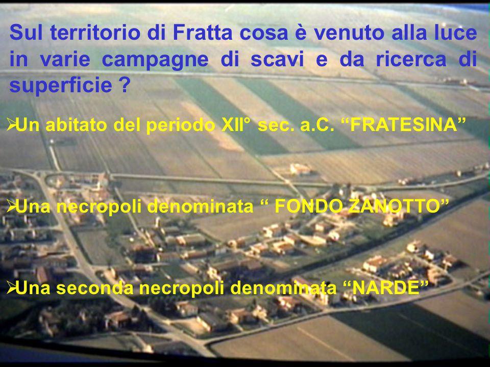 Sul territorio di Fratta cosa è venuto alla luce in varie campagne di scavi e da ricerca di superficie