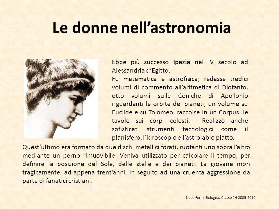 Le donne nell'astronomia