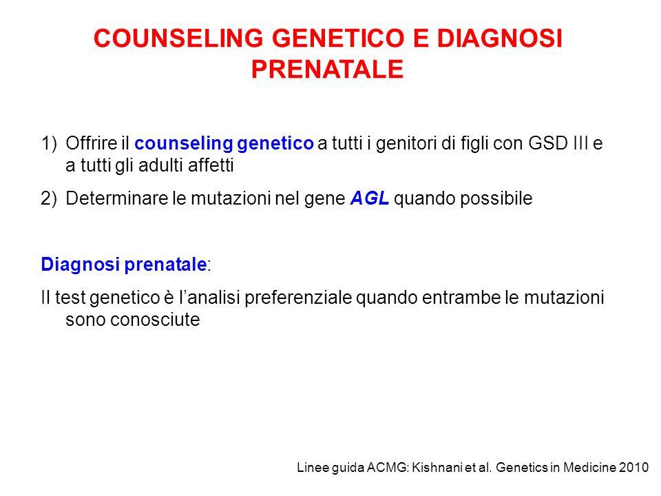 COUNSELING GENETICO E DIAGNOSI PRENATALE