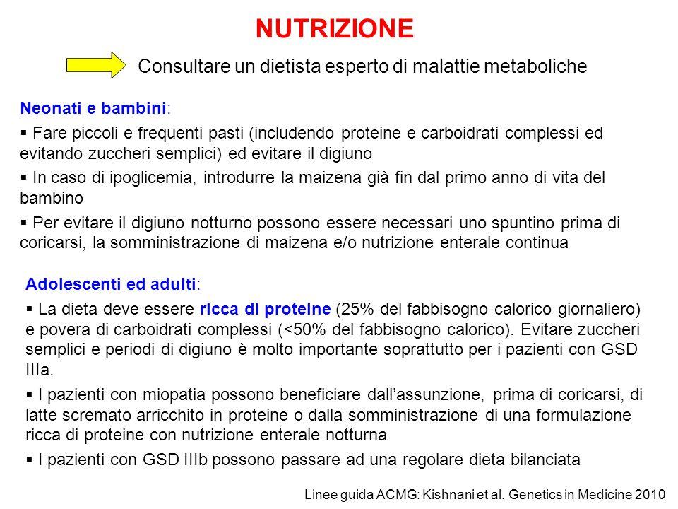 NUTRIZIONE Consultare un dietista esperto di malattie metaboliche
