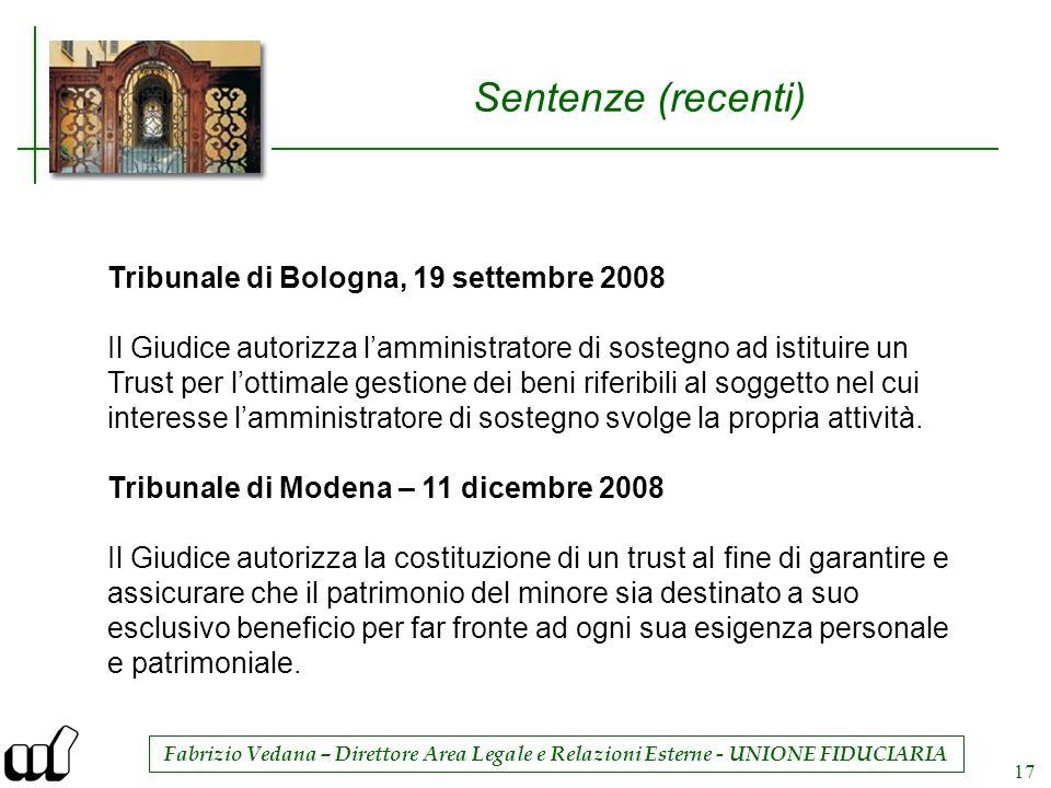 Sentenze (recenti) Tribunale di Bologna, 19 settembre 2008