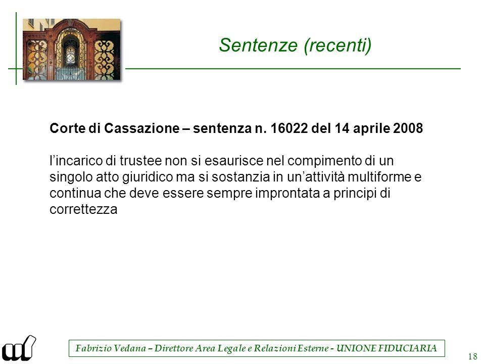 Sentenze (recenti) Corte di Cassazione – sentenza n. 16022 del 14 aprile 2008.
