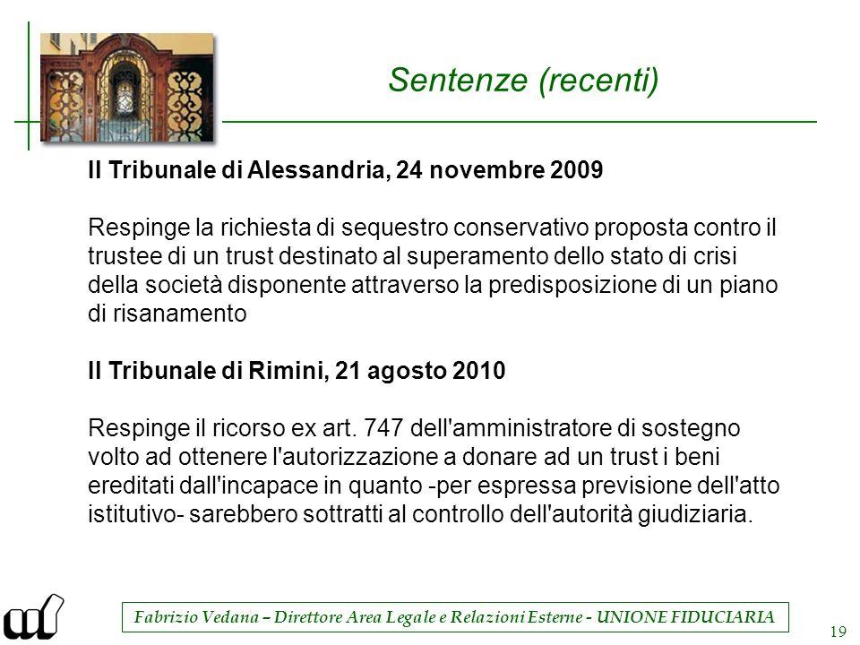 Sentenze (recenti) Il Tribunale di Alessandria, 24 novembre 2009