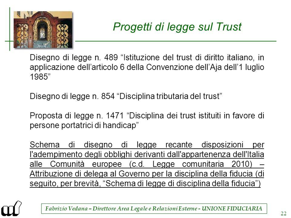 Progetti di legge sul Trust