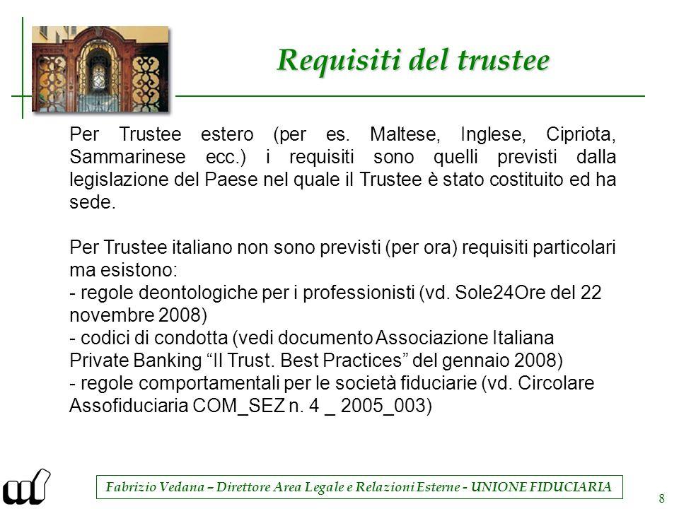 Requisiti del trustee