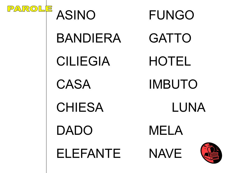 ASINO FUNGO BANDIERA GATTO CILIEGIA HOTEL CASA IMBUTO CHIESA LUNA