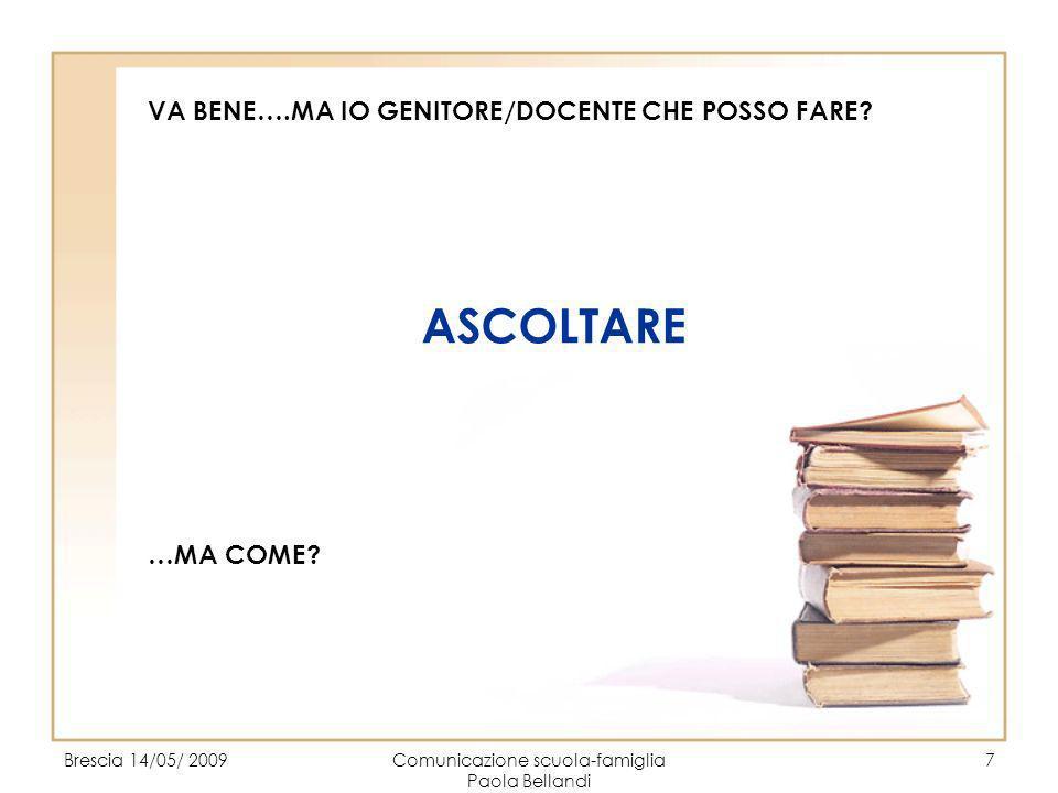 Comunicazione scuola-famiglia Paola Bellandi