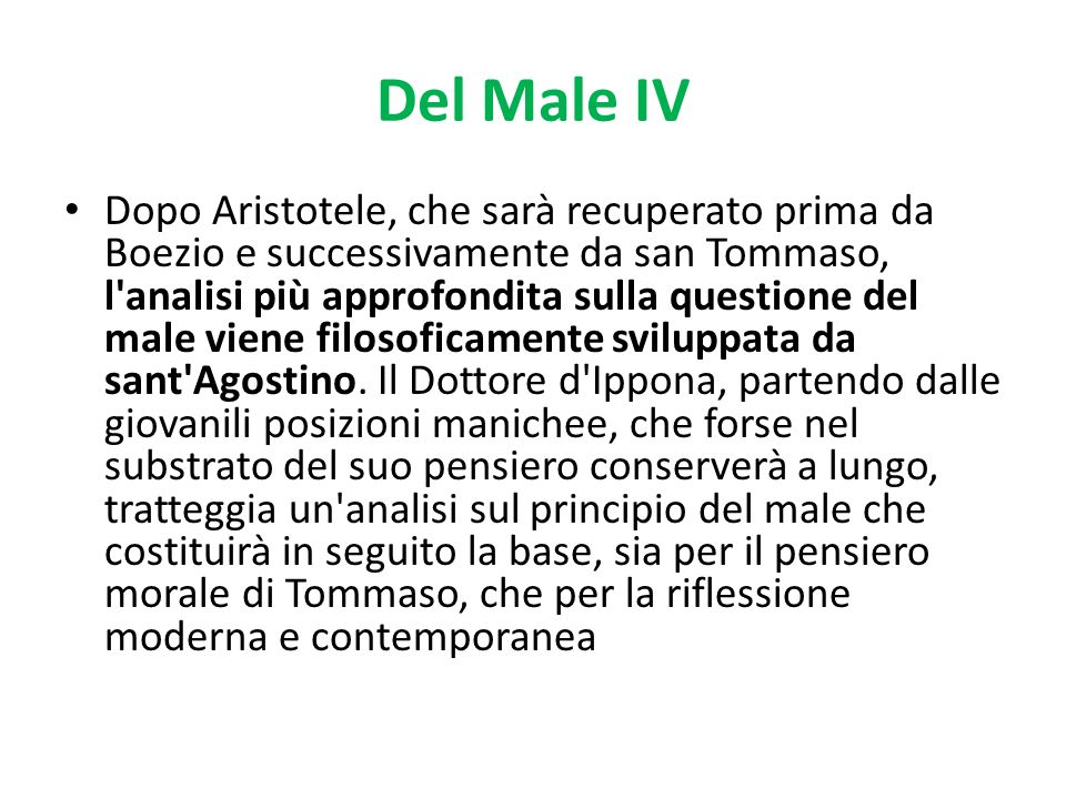 Del Male IV