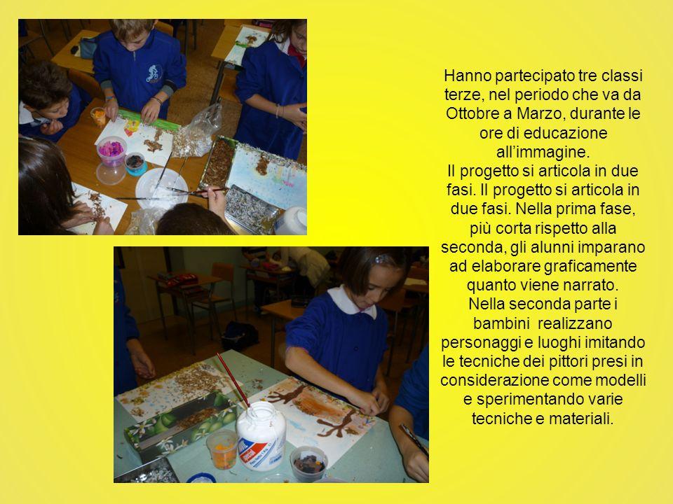 Hanno partecipato tre classi terze, nel periodo che va da Ottobre a Marzo, durante le ore di educazione all'immagine.