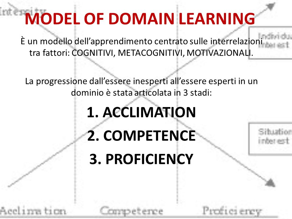 MODEL OF DOMAIN LEARNING