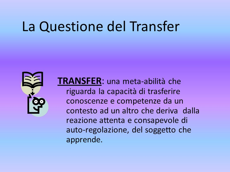 La Questione del Transfer