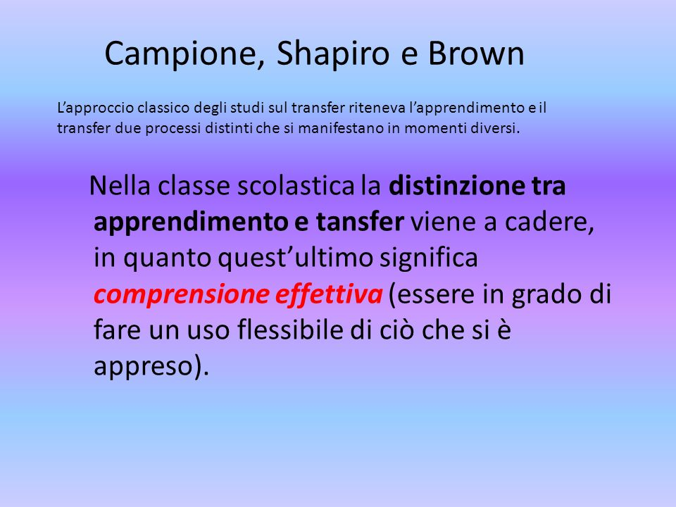 Campione, Shapiro e Brown