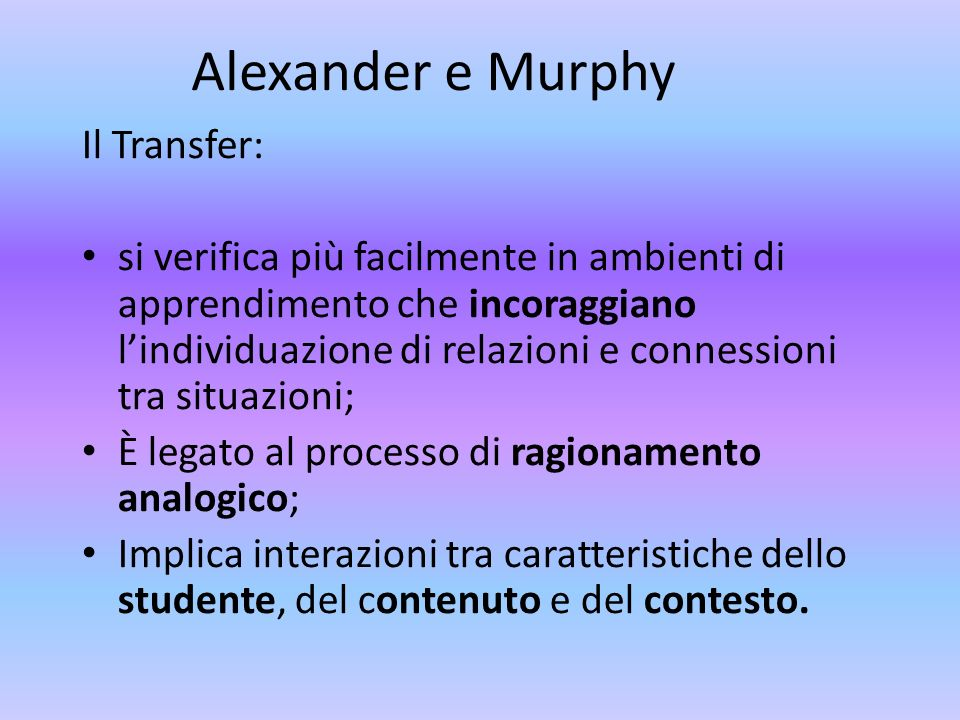 Alexander e Murphy Il Transfer:
