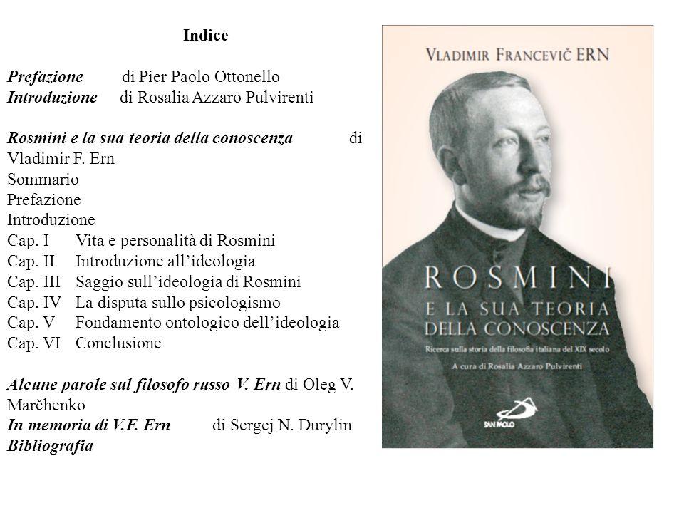 Indice Prefazione di Pier Paolo Ottonello. Introduzione di Rosalia Azzaro Pulvirenti.