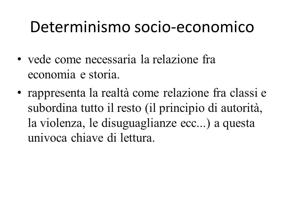 Determinismo socio-economico