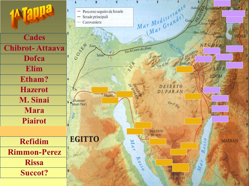 1^ Tappa Cades Chibrot- Attaava Dofca Elim Etham Hazerot M. Sinai