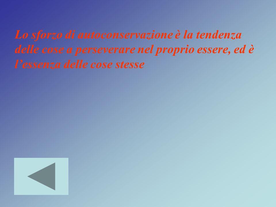 Lo sforzo di autoconservazione è la tendenza delle cose a perseverare nel proprio essere, ed è l'essenza delle cose stesse