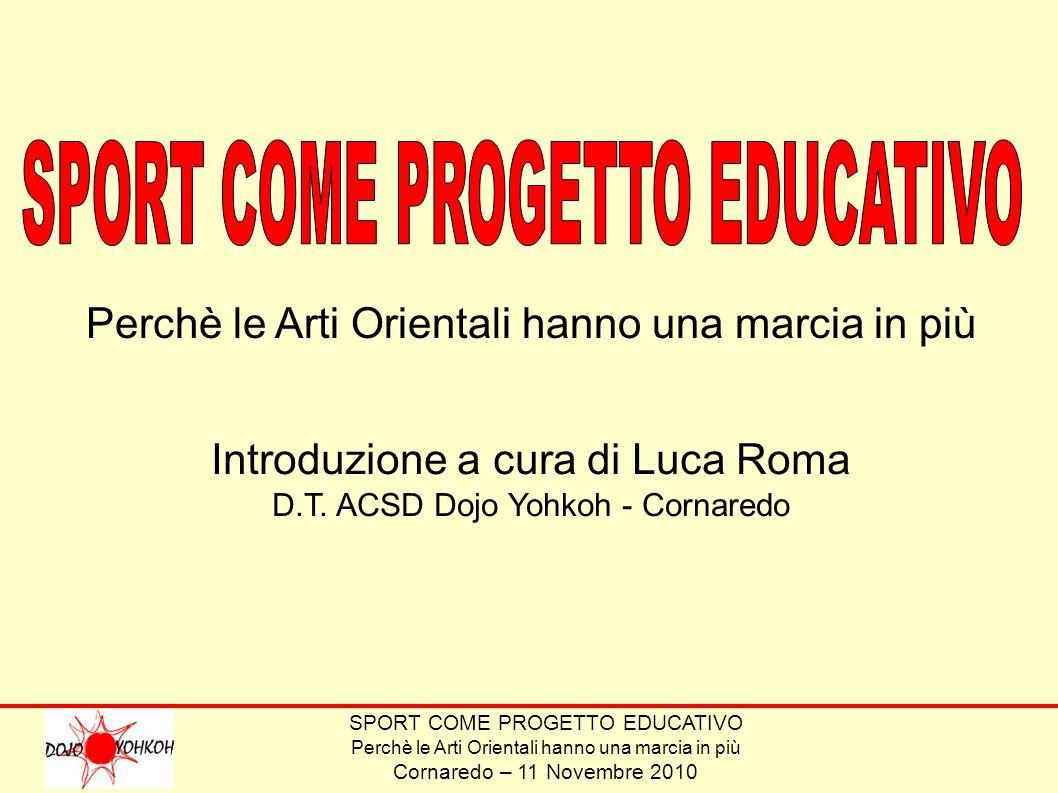 SPORT COME PROGETTO EDUCATIVO