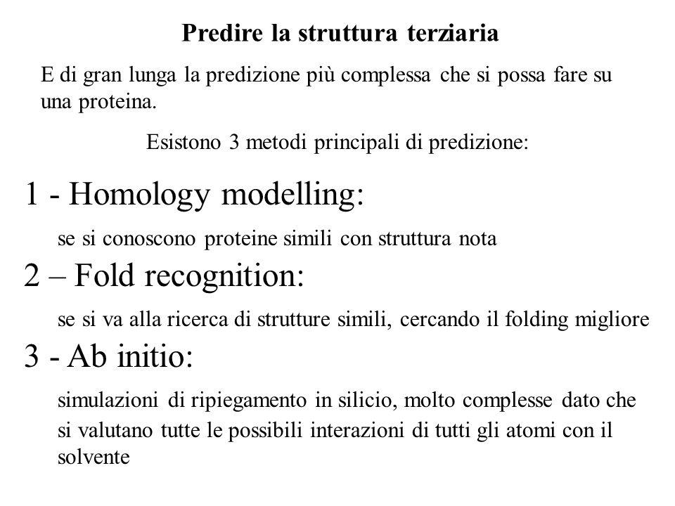 Esistono 3 metodi principali di predizione: