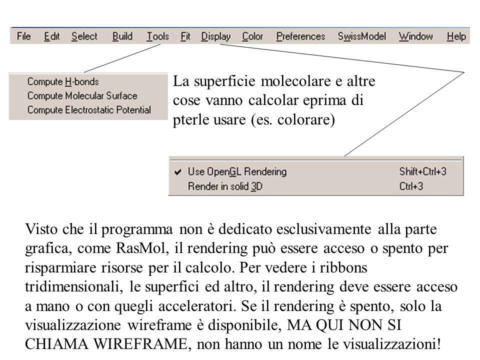La superficie molecolare e altre cose vanno calcolar eprima di pterle usare (es. colorare)