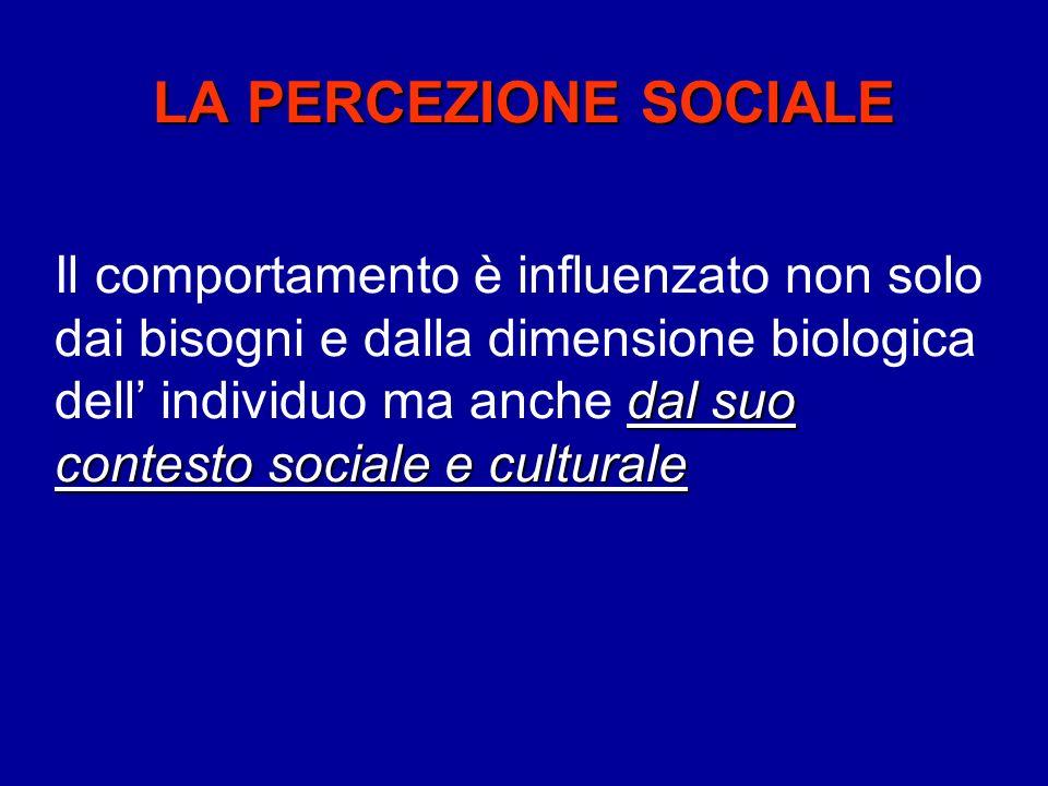 LA PERCEZIONE SOCIALE