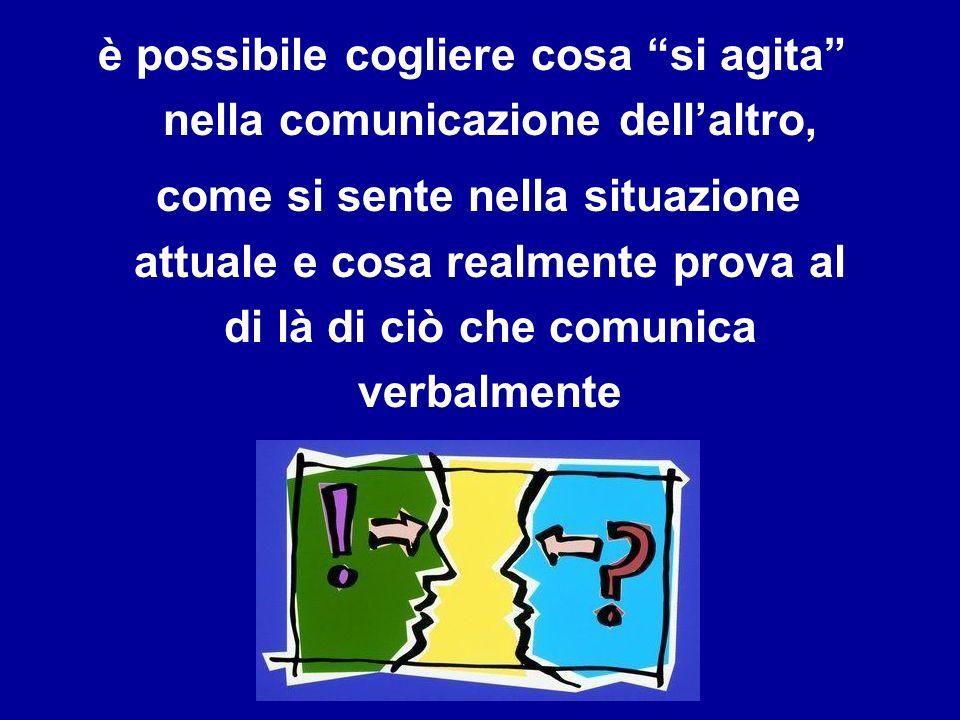 è possibile cogliere cosa si agita nella comunicazione dell'altro,