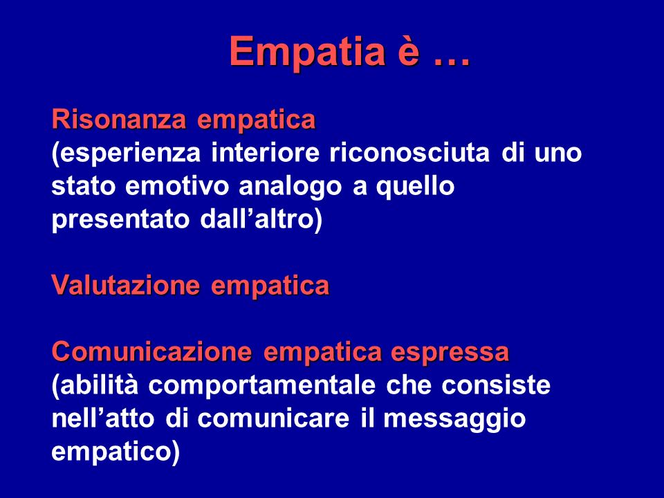 Empatia è … Risonanza empatica
