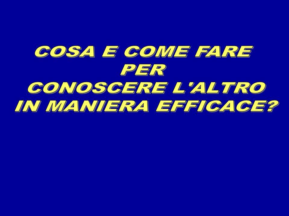 COSA E COME FARE PER CONOSCERE L ALTRO IN MANIERA EFFICACE