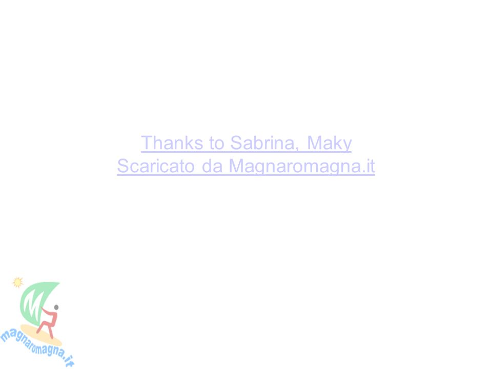 Thanks to Sabrina, Maky Scaricato da Magnaromagna.it